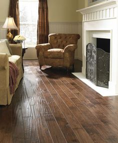 Hand scraped hardwood floors....