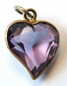 Amethyst witches heart charm.