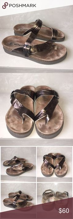 Mephisto designer sandals sz Euro 39 US 8.5 Excellent condition Mephisto leather designer sandals sz Euro 39 US 8.5 made in France only has a few small marks on insoles beautiful gold/bronze color Mephisto Shoes Sandals