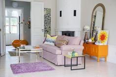 IKEA Stockholm sofa (older model) cover with a Tegnér Melange Rose from Bemz. www.bemz.com