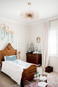Toddler Mermaid Bedroom Reveal - The Miami Rose Girl Bedroom Designs, Bedroom Themes, Girls Bedroom, Mermaid Bedroom, Rose Wall, Big Girl Rooms, Beautiful Bedrooms, Cribs, Miami