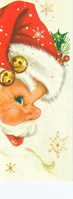 Santa profile on card/ I have seen this many times and I love it...He is the Santa of my childhood