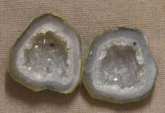 Tabasco Geode 1 Pair Cut and Polished Great for Jewelry 27365
