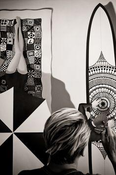 Surfer and artist Tyler Warren