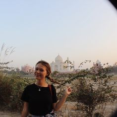 """This was the first time seeing the Taj Mahal from a distance... No photos give…"