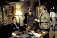 Brian De Palma directing Tom Cruise and Emmanuelle Béart, MISSION: IMPOSSIBLE.
