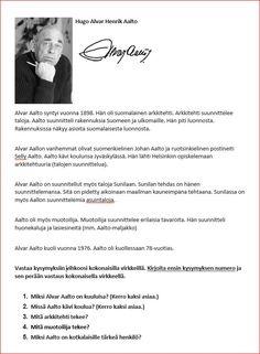 Alvar Aalto tietoteksi. Alvar Aalto