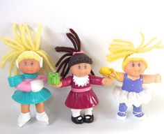 Vintage Cabbage Kid Dolls from McDonald's Kids Meals ... I had all 3 in this picture ... I was obsessed with Cabbage Patch