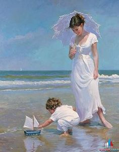 Born in Khabarovsk, Russia, Vladimir Volegov began painting at the young age of three. His art was appreciated at that age as well. Vladimir Volegov, attended an art school in his early age and the… Paintings I Love, Beautiful Paintings, Art Plage, Art Amour, Fine Art, Beach Art, Painting Inspiration, Painting & Drawing, Pond Painting
