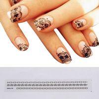 Moda caliente venta 12 nuevas unids mezcla de acrílico de encaje estilo tatuajes de Nail Art Tips Nail Sticker decoración de la gota NA-001924