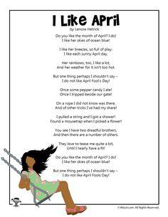 Four April Fools Day printable poems for kids. April Fools Kids, April Fools Pranks, Pranks For Kids, Funny Jokes For Kids, Spring Poems For Kids, April Poems, New Year Poem, Kids Poems, Teacher Worksheets