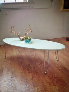 Eliptikal coffee Table Surfboard Eames Era Modern New Lounge Design, Table, Art Chair, Mid Century Table, Furniture, Love Seat, Mid Century Design, Chrome Colour, Coffee Table