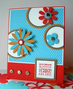 Great colors in this handmade card.
