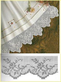 How to Crochet Wave Fan Edging Border Stitch - Crochet Ide Thread Crochet, Filet Crochet, Crochet Stitches, Crochet Doilies, Easy Crochet Patterns, Cross Stitch Patterns, Hat Patterns, Crochet Magazine, Yarn Shop