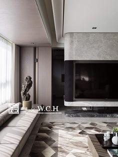 Contemporary Interior Design, Interior Design Living Room, Living Room Designs, Living Room Decor, Luxury Homes Interior, Interior Architecture, Tv Wall Design, House Design, False Ceiling Design