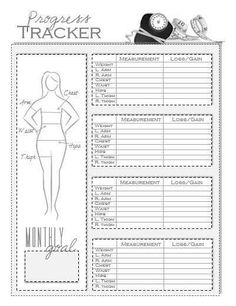printable body measurement chart weight loss Book Covers