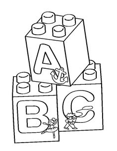 Printable coloring page for LEGO
