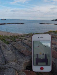 Seeing sugary sea.  Porte Vauban Antibes / Antibes, France