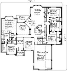 Two Story House Plans House Plans Floor Plans Blueprints