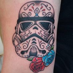 Storm trooper sugar skull from today by @tattoosbykryss space next Tuesday 07596237438 or worcestertattoostudio@hotmail.co.uk for booking information