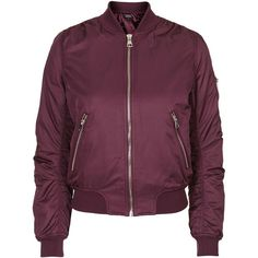TopShop ma1 Bomber Jacket (1,385 MXN) ❤ liked on Polyvore featuring outerwear, jackets, topshop, burgundy, blouson jacket, burgundy jacket, burgundy bomber jacket and flight jacket