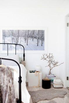 Scandinavian bedroom.