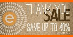 The customer thank you sale! For a limited time, save on your favorite products.