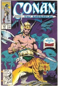 Cover for Conan the Barbarian (Marvel, 1970 series) Comic Book Covers, Comic Books, Conan The Barbarian Comic, Conan Der Barbar, Robert E Howard, Dungeons And Dragons Board, Conan The Destroyer, Roman, Conan Comics
