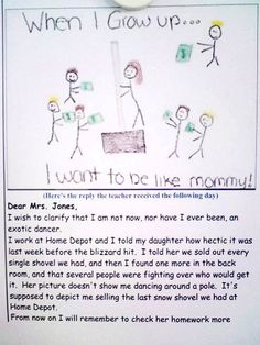 This gave me my daily giggle! As a teacher... I know I see a lot of questionable drawings! Haha