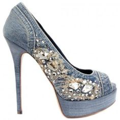 Absolutely Love these Denim Bling Heels!!