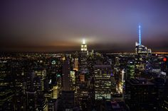 New York at night from the top of the Rock  [6000x4000]