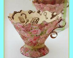 Paper Teacups-Box set of 5 Rose Garden-Alice in Wonderland- Tea Party Favors, Nut & treat Cups, Paper Tea Cups, Tea Party Favors, Party Hats, Alice In Wonderland Tea Party, Tea Party Birthday, 2nd Birthday, Tea Party Bridal Shower, Mad Hatter Tea, Mad Hatters