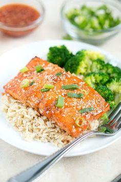 Honey Sriracha Salmon Recipe on Yummly