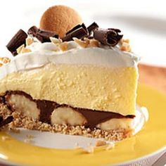 Peanut Butter-Chocolate Banana Cream Pie ----- Click Here for Recipe
