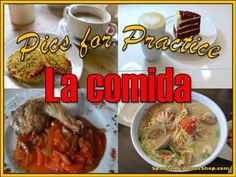 Spanish food words and phrases are easily practiced in class with your students using this picture powerpoint!  Show a slide and have students tell you the food items in each dish or use the pictures to have students practice the restaurant dialogue in your book, changing it according to the pictures shown.