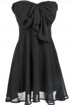Havana Cabana Bow Dress - Black