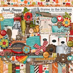 Thyme in the Kitchen Digital Scrapbooking Kit by Traci Reed & Amber Shaw