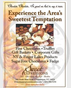 I will laYOUT your Ad for Print or Web Sugar Free Chocolate, Chocolate Fudge, Chocolate Truffles, Flyer Distribution, Finger Lakes, Corporate Gifts, Layout, Ads, Sweet