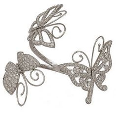 VAN CLEEF AND ARPELS Flying Butterfly Cuff Bracelet
