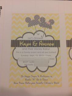 Kalyn's Disney baby shower invitations!
