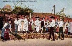 Postal anos 1910s MINHO PORTUGAL - Costumes rurais