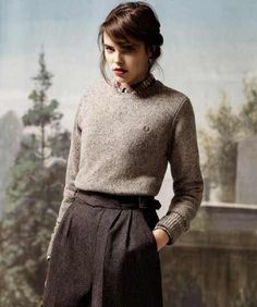 Lovely outfit in fred perry Estilo Preppy Chic, Estilo Grunge, Preppy Style, Style Me, Classic Style, Style Blog, Moda Vintage, Vintage Mode, Mode Outfits