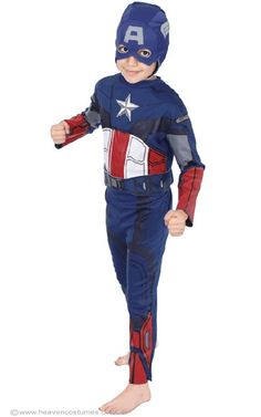Boys Captain America Costume, perfect for your little superhero!