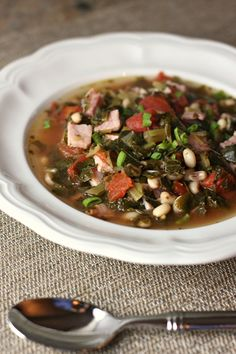 black eyed pea soup with collard greens
