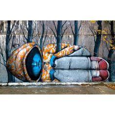 """Louisiana Winter"", do artista Seth, em Old Bâton-Rouge, Louisiana, EUA. #artes #arts #art #arte #impacto #artederua #arteurbana #mural #pinturamural #streetart #urbanart #design #architecturelover #architecture #arquitetura #architecturelover #architecture #arquitetura #design #projetocompartilhar #davidguerra #shareproject #louisianawinter #seth #oldbatonrouge #louisiana #eua #usa"