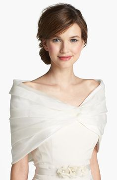 Pretty organza stole - perfect for crisp fall weather!