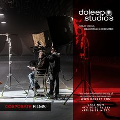 CORPORATE FILMS Making Services. Based on our feature film-making experience, Doleep Studios crafts unique corporate films that redefine clients' expectations and are recognized for excellence. #business #entrepreneur #fortune #leadership #CEO #achievement #greatideas #quote #vision #foresight #success #quality #motivation #inspiration #inspirationalquotes #domore #dubai #abudhabi #uae