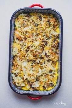 Rakott polenta (laktózmentes, gluténmentes, vegán) Go Veggie, Vegan, Polenta, Lasagna, Curry, Veggies, Keto, Cooking, Ethnic Recipes
