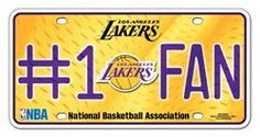 License Plate Tag Metal – Car Truck SUV – #1 Fan – Los Angeles Lakers