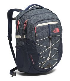 The North Face Womens Borealis Backpack - Cosmic Blue Heather/ Calypso Coral - Backpacks & Bookbags